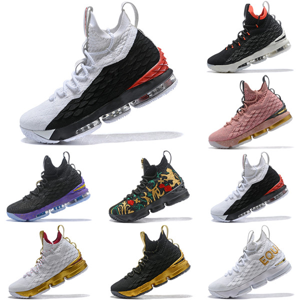 quality design 86c6c 44ecd 2019 New Arrival Lebron 15 Diamond Turf White Black Red AO9144 100 Mens  Basketball Shoes James 15 Sneakers XV Sports Shoes Size 40 46 From ...