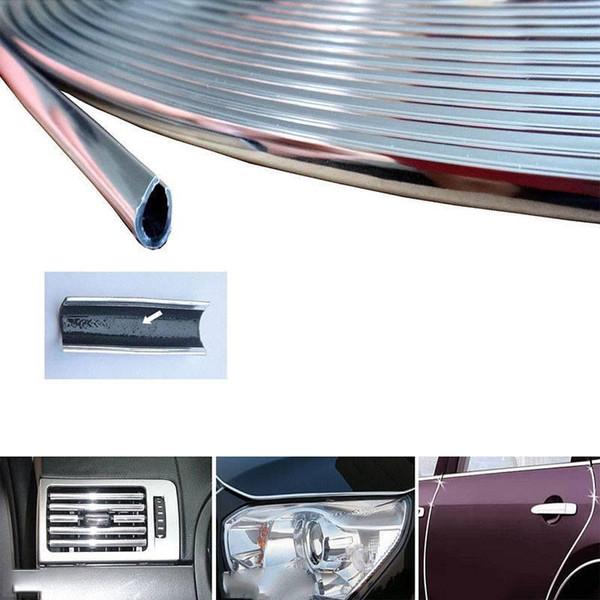 Yentl Raspadinha Protetora Tampa Protetora Tira Rolo RollNew 6 M Chrome Molding Guarnição Tira Porta Do Carro Borda Scratch Protector Capa Protetor