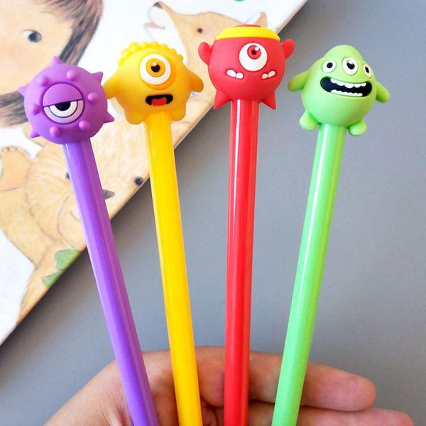 best selling cartoon gel pen 0.5mm black children Writing Pen Office Eexamination Limited Office Material School Supplies wholesale Free E-PACKET -425