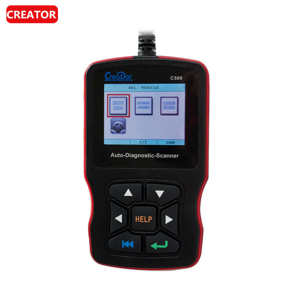 Creator C500 Auto Diagnostic Scanner for OBDII/EOBD/For BMW/For Honda/For Acura