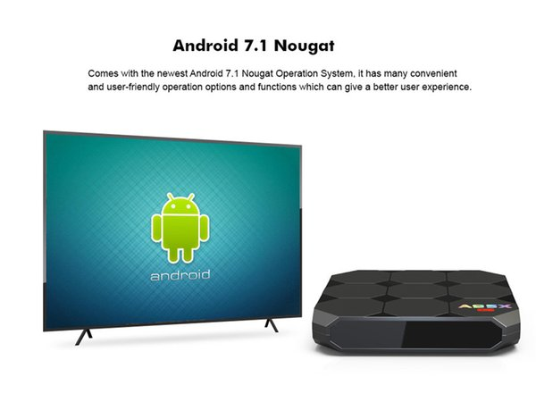 A95X R2 Android 7.1 TV Box Amlogic S905W 2GB 16GB LCD Display HD 4K 3D WiFi Media Player Boxes