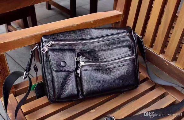 5aeb60c72a11 Мужские сумки из натуральной кожи Деловой портфель Кожаный портфель для  ноутбука Мужчины Дорожная сумка Сумка через