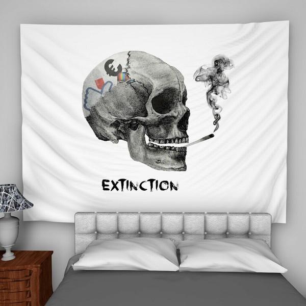 Schädel-Löschungs-Wandbehang-Tapisserie-psychedelische Schlafzimmer-Inneneinrichtung