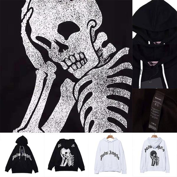 Großhandel Plus Size Frauen Gothic Punk Hoodie Sweatshirt Druck Schädel Skeleton Knochenrahmen Langarm Hoodie Reißverschluss Halloween Kostüm Mantel