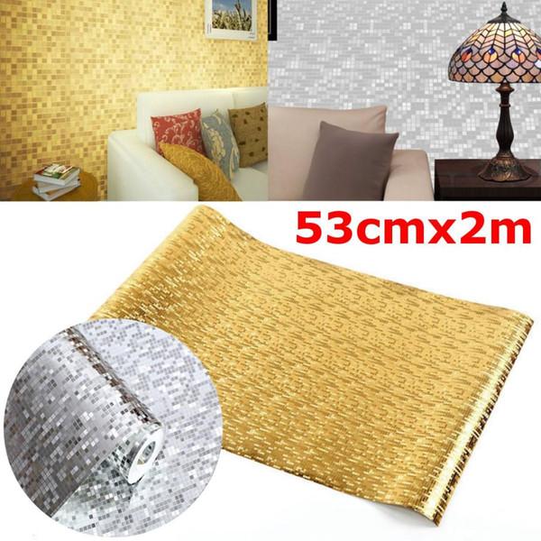 Silber Gold Folie Tapete Glitzer Dekor Bastelpapier Glitzer Luxus Tapetenbahn Hintergrund Tapeten KTV Bar Room Decor