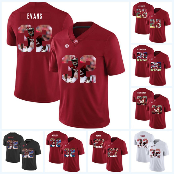 cheaper a77e4 ecd4b 2019 Rashaan Evans Men Alabama Crimson Tide 27 Derrick Henry 28 Anthony  Averett 30 Dont'A Hightower 29 Minkah Fitzpatrick College Football Jersey  From ...