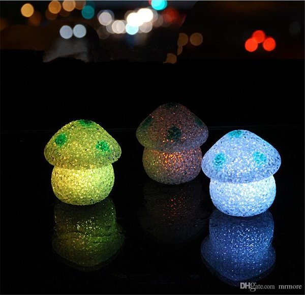 ew Cute 7cm Color Changing LED Mushroom Lamp EVA Party Lights Mini Soft Baby Kids Sleeping Nightlight Novelty Luminous Toy Gift