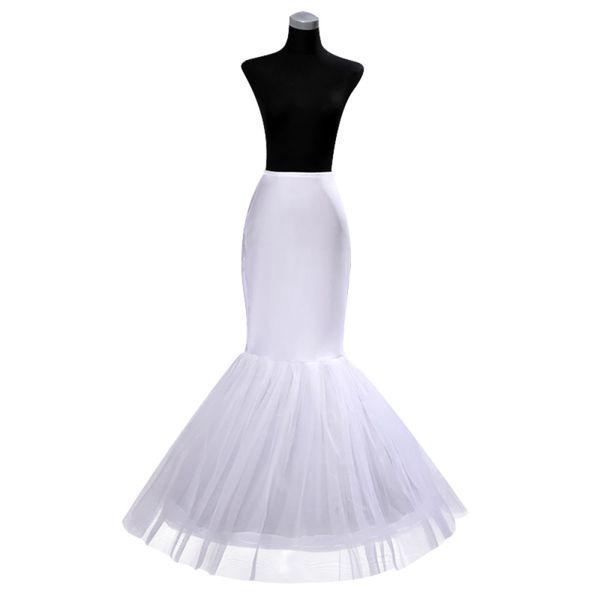 IN STOCK Cheap One Hoop Petticoat Crinoline for Mermaid Wedding Dresses Flounced Mermaid Petticoat Slip free shipping