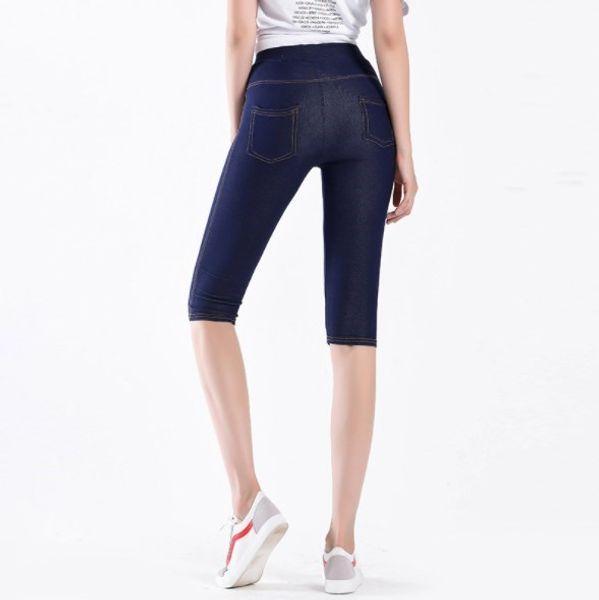 Femmes taille haute longueur du genou Noir Legging Femmes stretch Pantalon Skinny Corsaires Taille Plus mince Leggins été Sheer Leggings Femme
