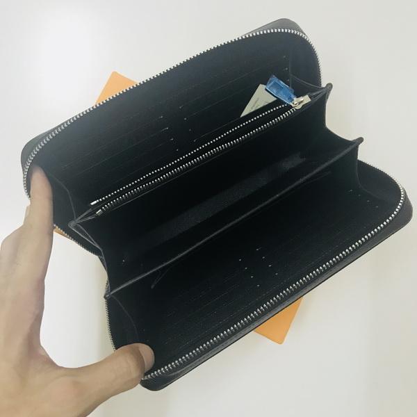 Designer-ZIPPY XL WALLET Frankreich Luxus Herren Smartphone Pass Schlüsselhalter Kreditkarte Geldbörse Damier Canvas Taiga Leder Top Qualität