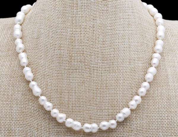 Baroque Pearl Necklace Choker Necklace South Sea White Freshwater Pearl Necklace Sweater Chains 16-45""