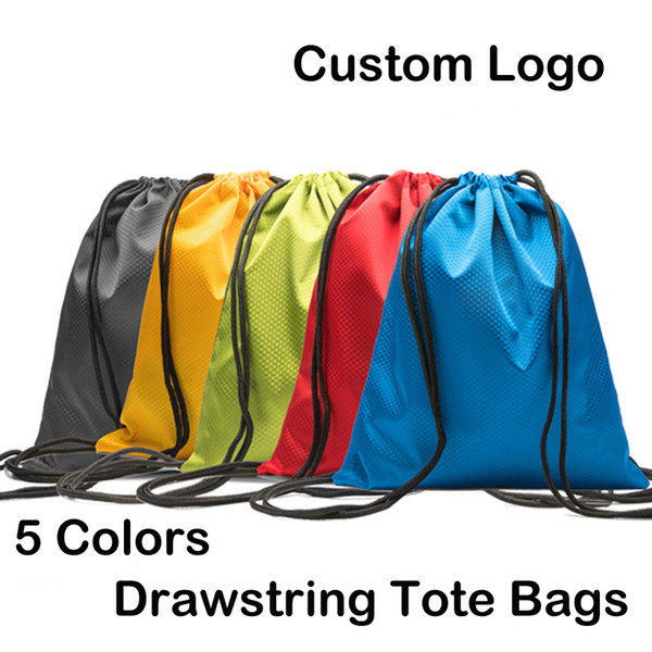 Waterproof 600D Oxford Cloth Drawstring Backpack Sports Gym Dance Bags Polyester Shopping Storage Folding Bag Custom Logo Free DHL M36F