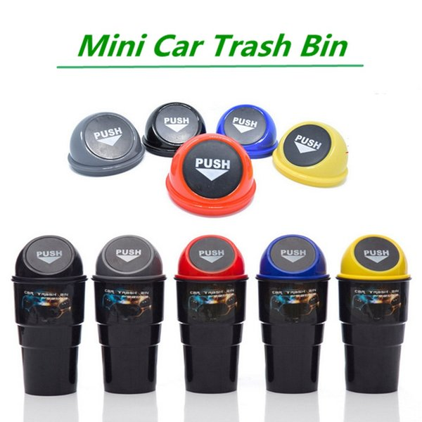 Mini Car Trash Bin Auto Internal Garbage Dust Case Holder Rubbish Cans For Vehicle Office Home HHA97