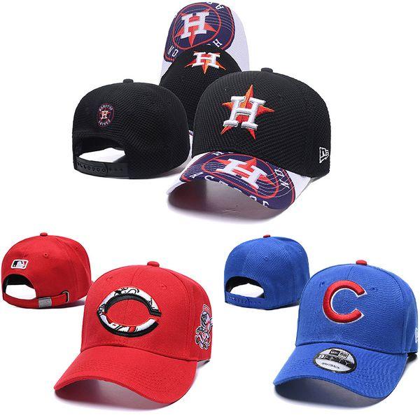2019 Herren Womens Houston Astros neue Ball Kappe Snapback Cincinnati Reds stricken Baseball Mützen Chicago Cubs Baseball Designer Hüte Kappen