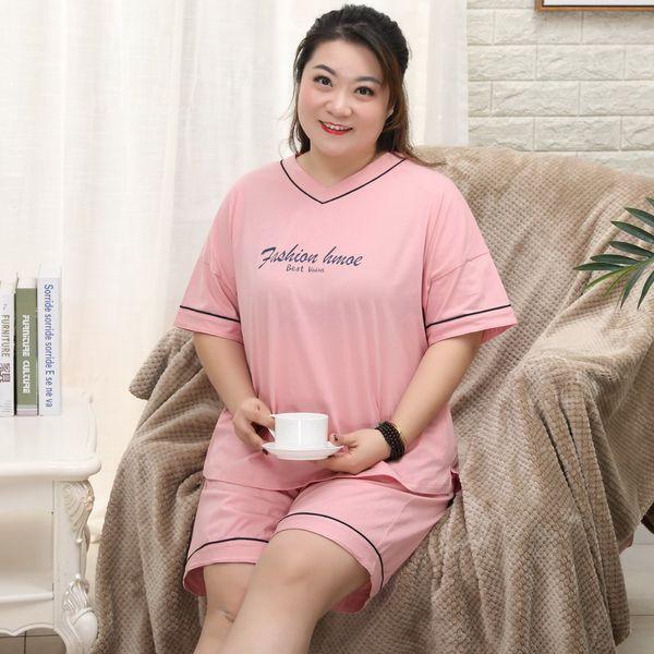 Free Shipping New 2018 Women's Summer Plus Size 100% Cotton Nightgown Short Sleeve sleepwear Set Home Turn-down Collar Pajamas