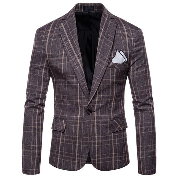 2017 Nueva Moda Casual Hombres Chaqueta de Algodón Delgado Estilo de Corea Traje Blazer Masculino Masculino Trajes Chaqueta Chaqueta Hombres M-4XL