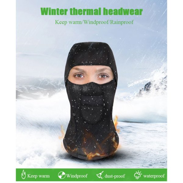 Outdoor Cycling Sports Winter Headwear Cap Thermal Fleece Ski Snowboard Shield Hat Cold Scarf Face Mask