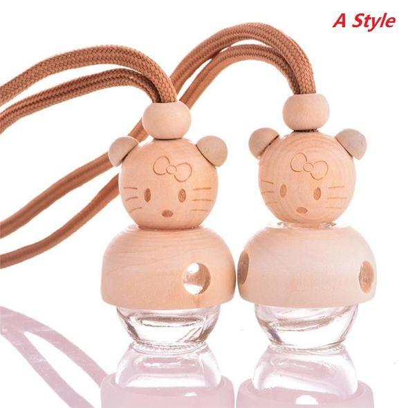 Coche de la historieta caliente de botella lindo y pequeño oso / muñeca perfume, perfume de marionetas, botella vacía, accesorios de automóviles, ornamentos del coche Botellas 5909