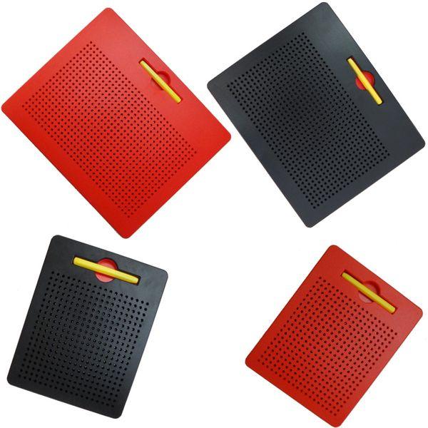 Magnetische Reißbrett magnetblock Kinder Spielzeug Bildung Lernen Stylus kinder reise Spielzeug Schreibtafeln Tablet Perlen Magnet Pad FFA1332