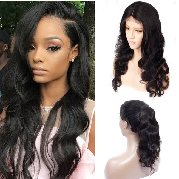 Glueless Body Wave 360 Lace Wig with Natural Hairline 150% Density Virgin Brazilian 360 Lace Frontal Human Hair Wigs