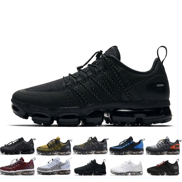 Nike Air Max Vapormax Brand New Run Utility Men, diseñadores de zapatos Metal Top negro antracita blanco Reflect Silver zapatos casuales para hombre tamaño 40-45