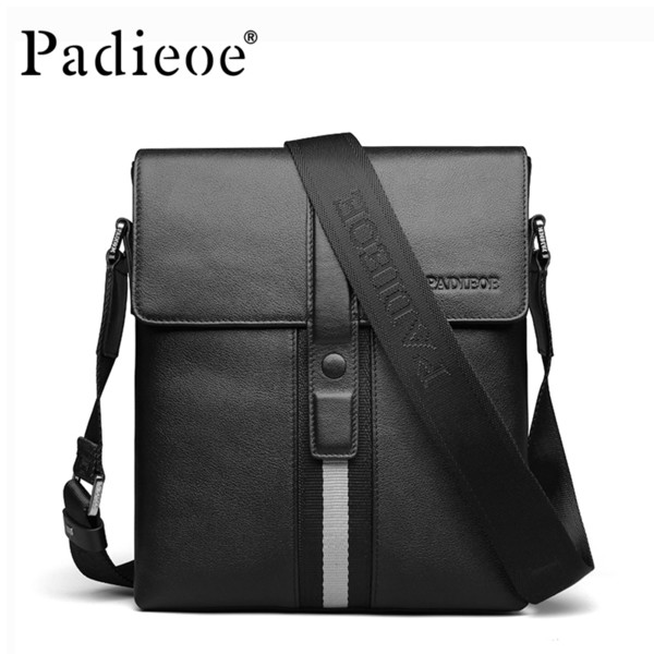 Men's Shoulder Bags Genuine Leather Crossbody Fashion European Designer Messenger For women handbag with brand Male Black Bolsas Best Sale