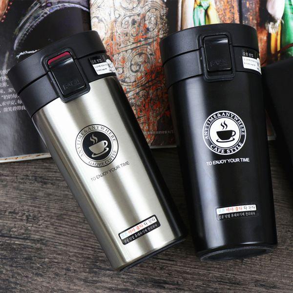 Thermos-Kaffeetasse Doppelwand-Edelstahl-Trommel-Vakuumflasche Thermo-Tee-Becher Reise-Thermosbecher Thermocup