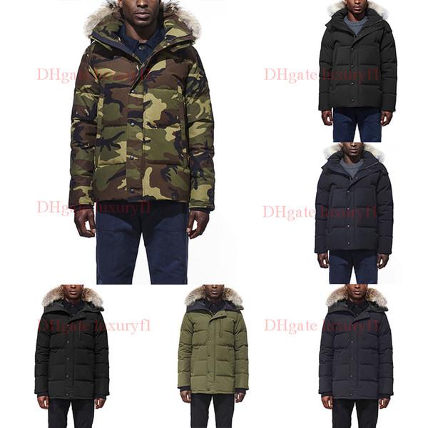 Real Raccoon Fur Men Winter Jacket Windbreaker Clothes Mens 2019 Luxury Designer Jackets Goose Down Jacket North Parka Doudoune Homme E45-47