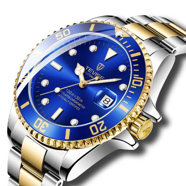 Designer uomini di lusso Vigilanza automatica di marca degli uomini di scheletro affari orologio meccanico da polso Relogio Masculino Drop Shipping