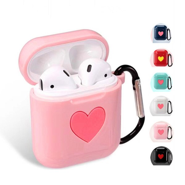 Cassa sveglia del trasduttore auricolare del cuore sveglio per la copertura del silicone di Apple AirPods TPU che carica i casi della cuffia i12 per la cassa protettiva dei baccelli dell'aria