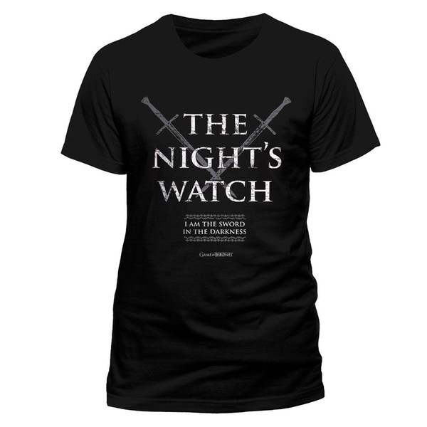 mens designer t shirts shirt Game of Thrones Licensed Nights Watch Tee T-Shirt House Stark Men