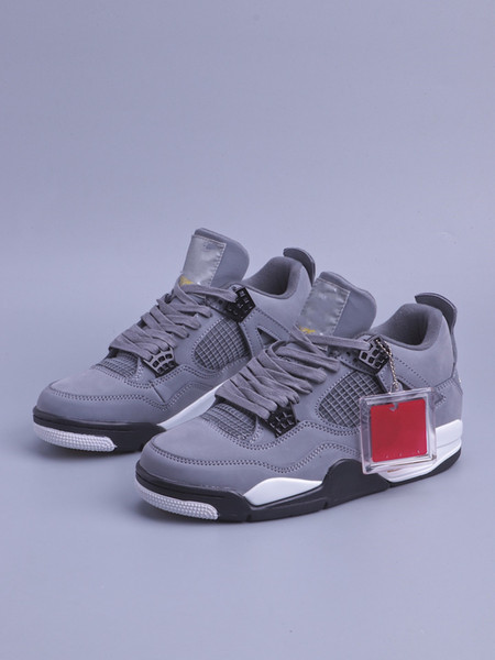 Big Size Men Basketball Shoes 4 4s Cool Crey Suede Outdoor Sports Shoes IV Male Casual Athletic Shoes Size 40-48