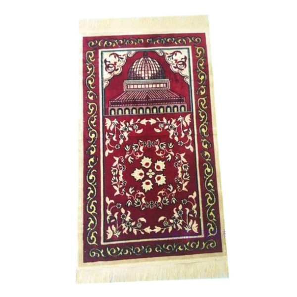 Neue Pilgerdecke Hui Dicker Teppich Islamischen Muslimischen Gebetsteppich Gebetsteppich Teppich Tragbare Islamischen Gebetsteppich 65 * 110 cm 2019