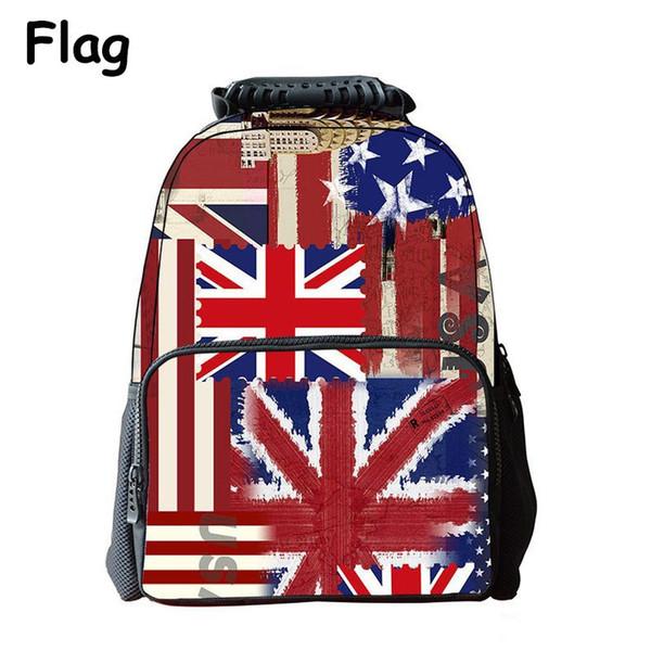 iMaySon Children Schoolbag 3D Printing England Flag Casual Kid Unisex Boy Felt Backpack Printing Shoulders Bags School Girls Teenager Retail