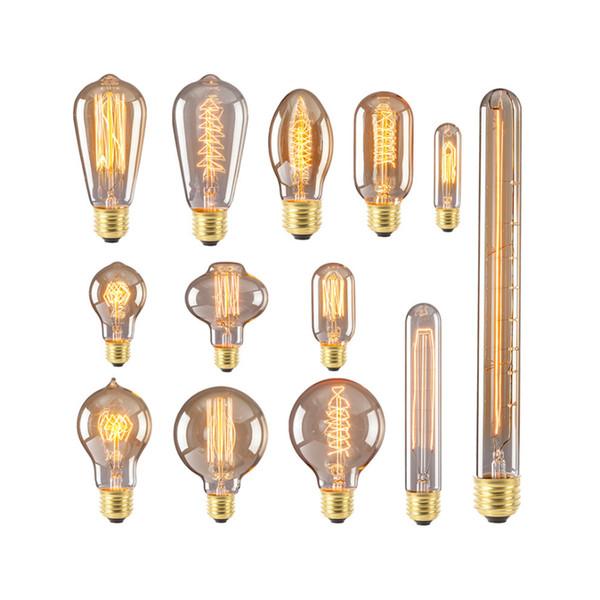 LED Vintage Edison Bulb E27 40W Retro Filament Tungsten Lamp Incandescent Light Christmas Decor Lighting Pendant Lamp