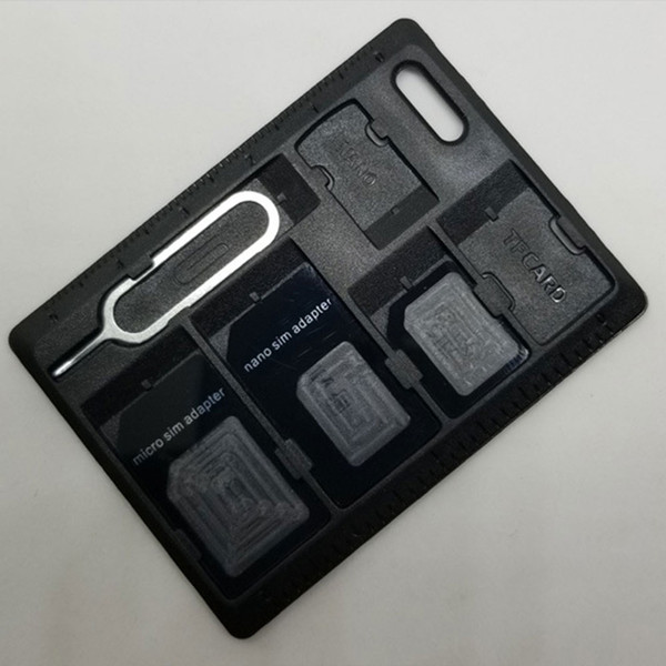 Plastic Portable Unique SD Card Box Memory Card Case Computer Accessory for SDHC SDXC Micro SD TF SIM Card free shipping wholesale hot sell