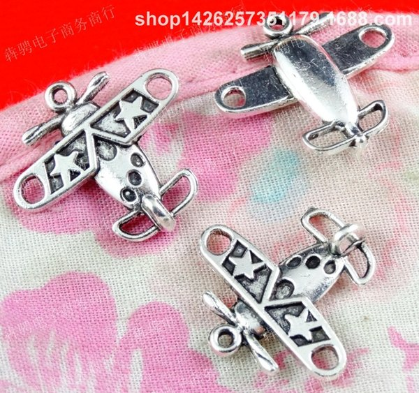 50pcs 19*18*4MM alloy copper antique bronze airplan Helicopter charm for bracelet vintage metal pendants earring handmade DIY jewelry making