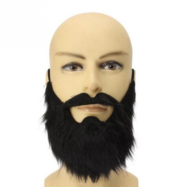 Partido del traje de Halloween divertido Hombres barba bigote falso disfraz de pelo facial