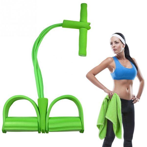 4 Tube Forte Fitness Bandes De Résistance En Latex Exerciseur Pédale Femmes Hommes Asseyez-Vous Tirez Cordes Yoga Fitness Équipement Tic Foot