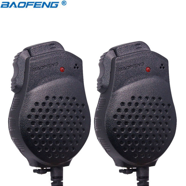 10PCS Original Baofeng UV-82 Dual-PTT speaker MIC Portable Push-To-Talk for bf-uv82 Walkie Talkie Microphone accessories Radio