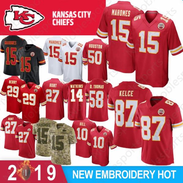 b75005d1f28 15 Patrick Mahomes II 29 Berry Jersey Kansas City 27 Kareem Hunt Chief 14  Sammy Watkins