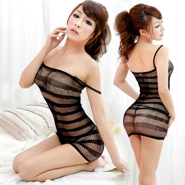 best selling New Sexy Lingerie Swimsuit Fishnet Sex Toys Bodysuit Body Stocking Dress Nightwear Underwear Sandy Beach