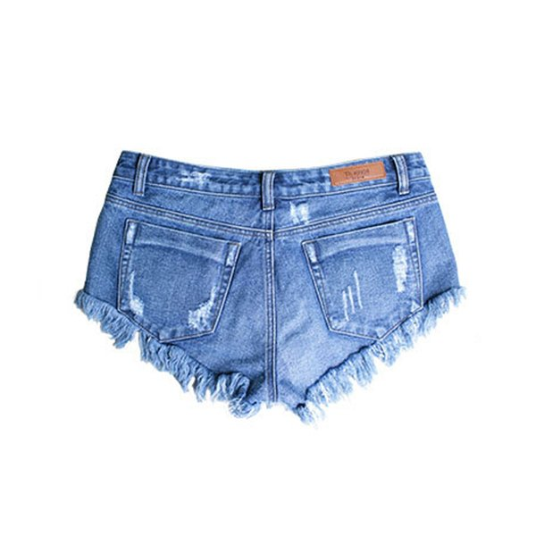 NORMOV Shorts Donna 2019 New Summer Vintage Strappato Hole Denim Short Sexy Casual Pocket Hot Ladies Plus Size Shorts Jeans