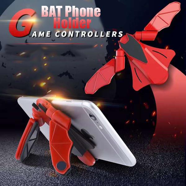 Qualität Gamepad Batman Telefon-Standplatz Multifunktions Spiel Handheld-Controller Trigger-Feuer-Knopf-Auto-Halter für Universal Mobile Phon Griff