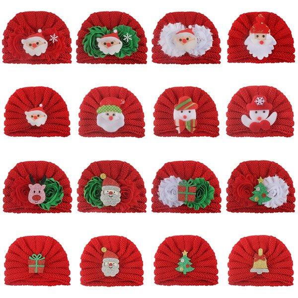 Cappello di Natale bambino sveglio maglia del bambino Cappelli 22 modelli caldi Crochet decorazioni natalizie cappelli del bambino 19102801