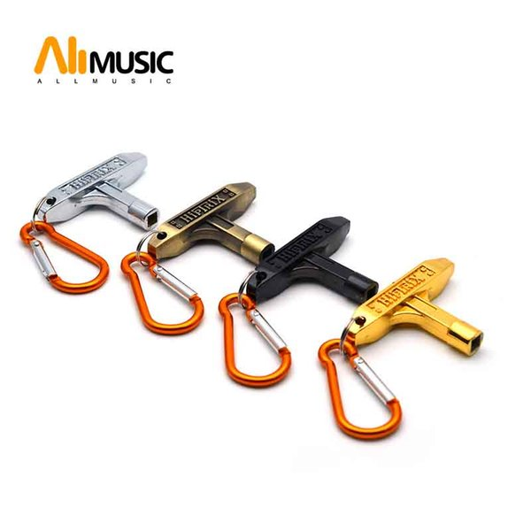 top popular Drum Skin 5MM Tuning Key With Carabiner Black Gold Chrome Bronze 2021