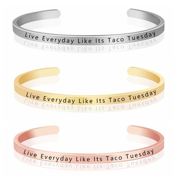 2019 KCALOE Live Everyday Like Its Taco Tuesday Inspiring Jewelry Wish  Quotes Bracelet Graduation Best Gift From Mandarin18, $34.5   DHgate.Com