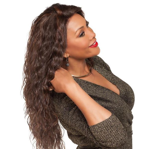 Avrupa ve Amerika peruk kadınlar mısır uzun kıvırcık saç Afrika siyah moda tam başlık dış ticaret nokta toptan