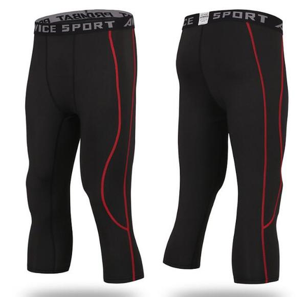 black+red,Capri pants