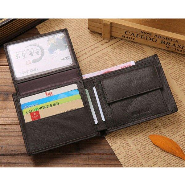Luxury Designer Mens Wallet Leather PU Bifold Short Wallets Men Vintage Male Purse Coin Pouch Multi-functional Cards Wallet